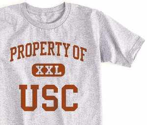 Property of USC история на тениската от фънкъ арт