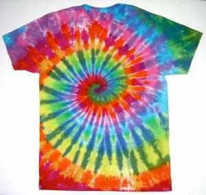 психаделична тениска от фънки арт