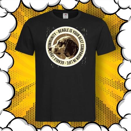 Мъжка тениска с с картинка Бигъл/Beagle Lover Community