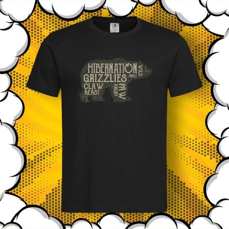 Мъжка тениска с картинка Hibernation Grizzlies