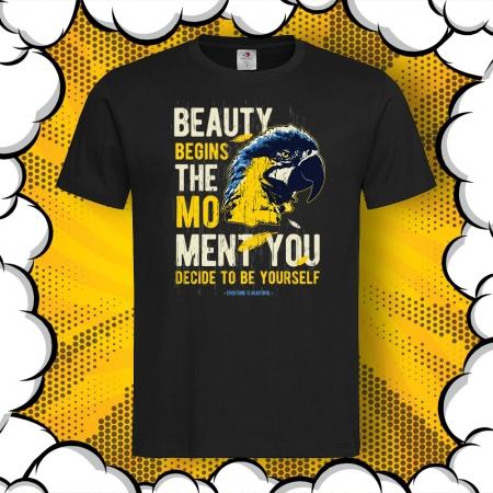 Мъжка тениска с печат Be yourself
