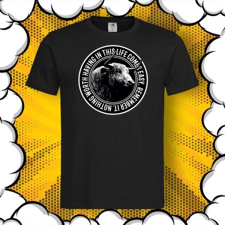 Мъжка тениска с печат Buffalo Worth