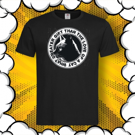 Мъжка тениска с печат Love of a Cat