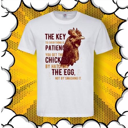 Мъжка тениска с печат Patience