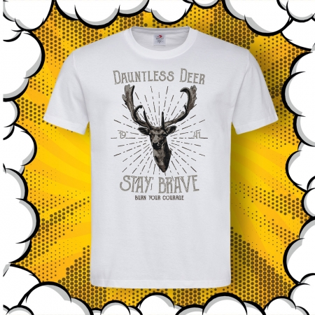 Мъжка тениска с надпис Stay Brave