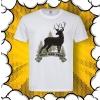 мъжка тениска с принт елен