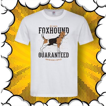 Мъжка тениска с принт Foxhound Guaranteed