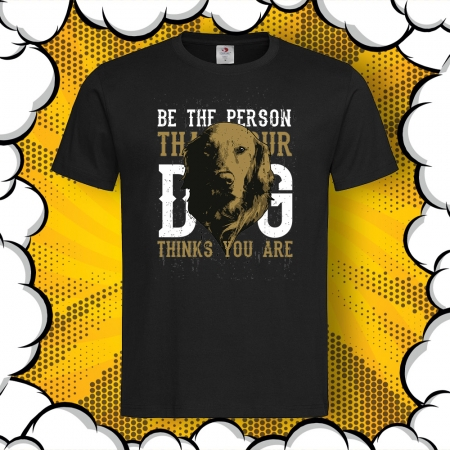 Мъжка тениска с принт Golden Retriever – Be the Person
