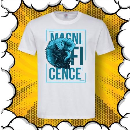 Мъжка тениска с надпис Magnificence