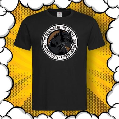 Мъжка тениска с картинка Black Panther