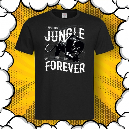 Мъжка тениска с надпис JUNGLE