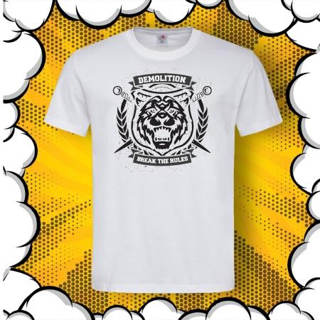 Мъжка тениска с картинка Demolition. Break The Rules