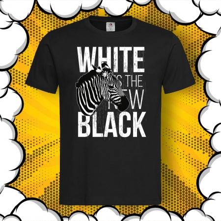 Мъжка тениска с картинка White Is The New Black