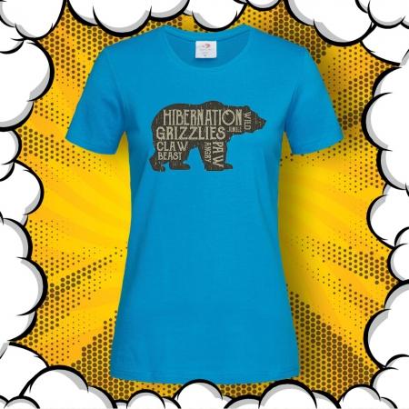 Дамска тениска с картинка Hibernation Grizzlies