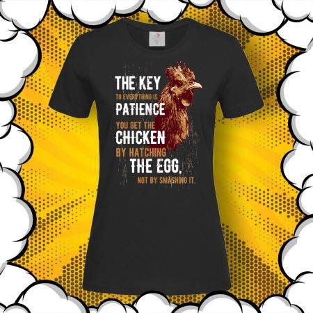 Дамска тениска с печат Patience