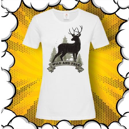 Дамска тениска с картинка Wild and Free