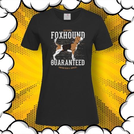 Дамска тениска с принт Foxhound Guaranteed