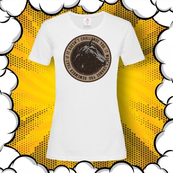 тениска с принт и мотивиращ фитнес цитат