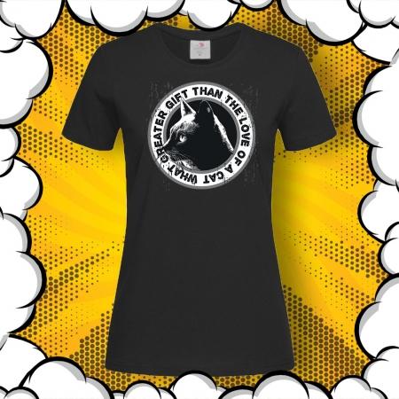 Дамска тениска с печат Love of a Cat