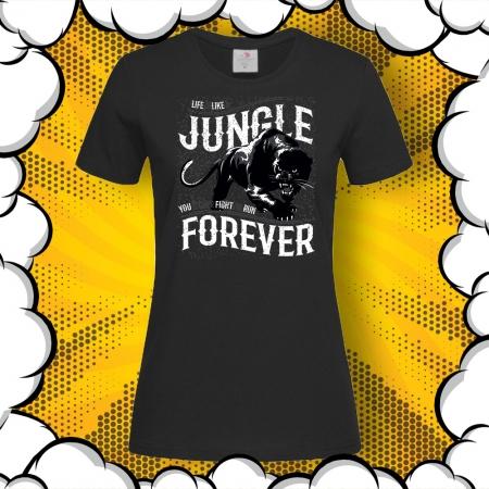 Дамска тениска с надпис JUNGLE