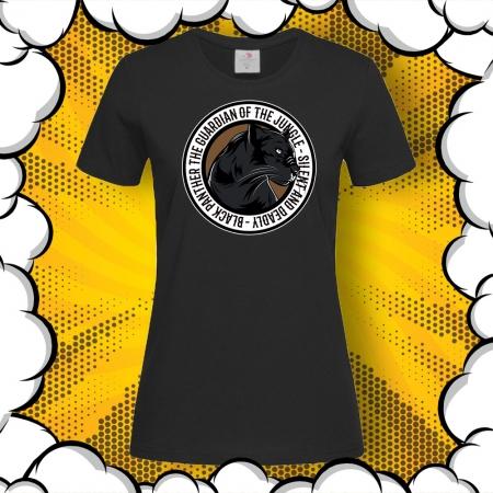 Дамска тениска с картинка Black Panther