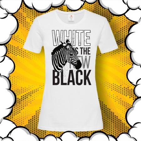 Дамска тениска с картинка White Is The New Black