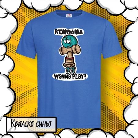 Детска тениска с принт Kendama