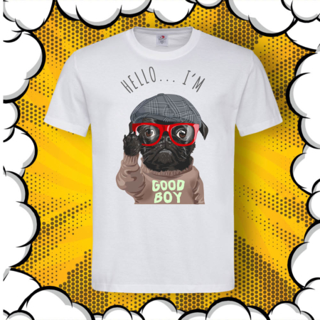 Мъжка тениска с надпис Good Boy