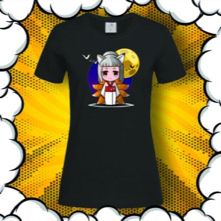 Дамска тениска с аниме принт Nine Tails Fox