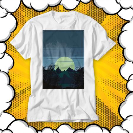 Тениска с АРТ Деко принт MOON