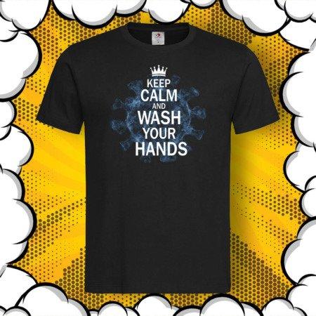 Тениска с принт Wash Your Hands