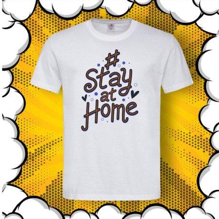 Тениска с DTG печат #StayHome