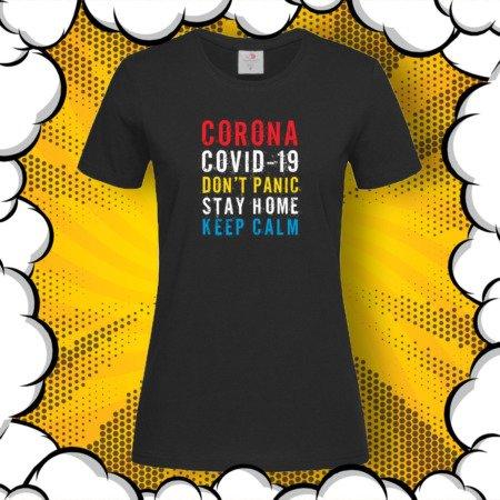 Тениска с принт Don't Panic