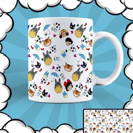 Керамична чаша с аниме илюстрация Тоторо