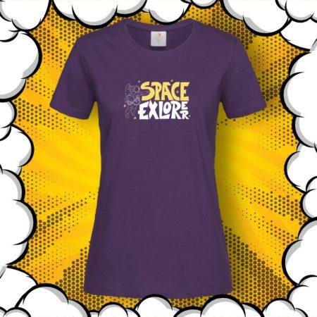Дамска тениска с принт SPACE Explorer