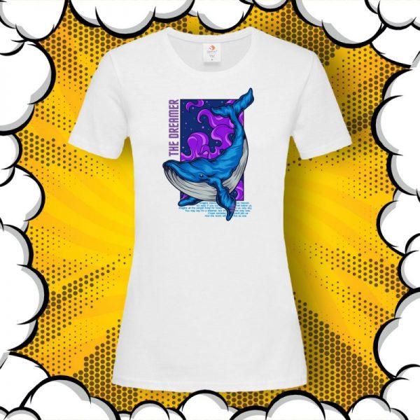 Дамска тениска с цитат от Imagine John Lennon