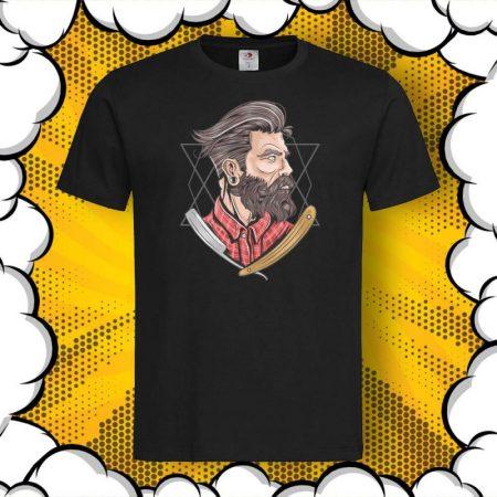 Мъжка тениска с принт Abstract Barber
