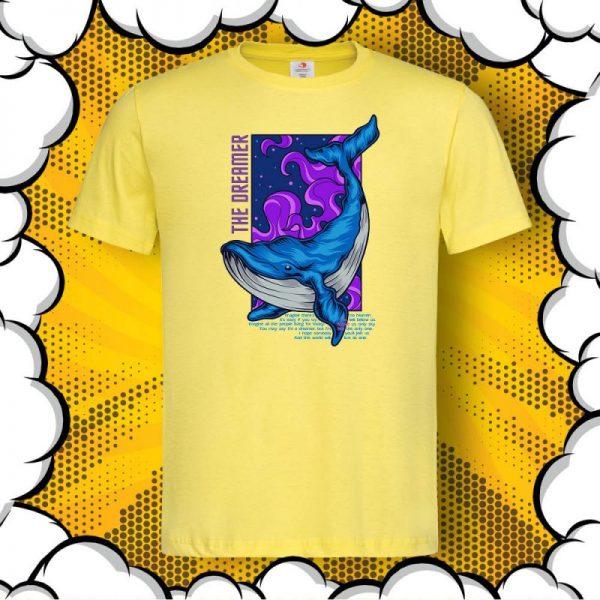 Мъжка тениска с цитат от Imagine John Lennon