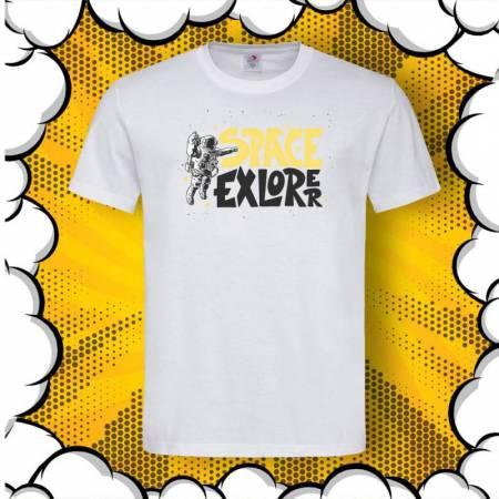 Мъжка тениска с принт SPACE Explorer
