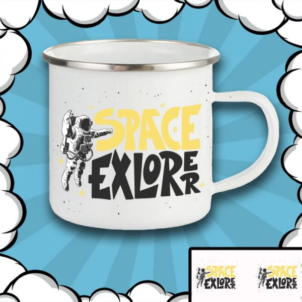 Metal Mug Space EXPLORER for gift