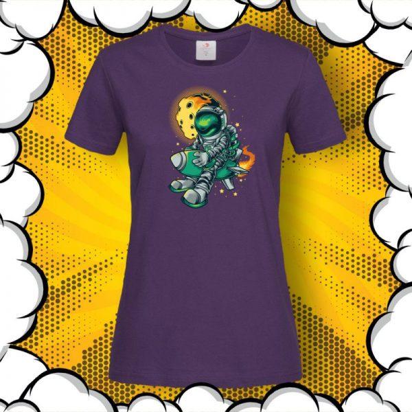 Тениска Astronaut Rocket с щампа