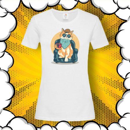 Дамска тениска с котка Cat Chilling Out