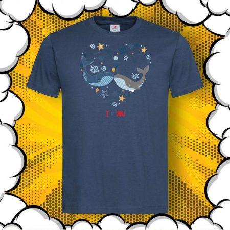 Мъжка тениска за любим мъж I Love You