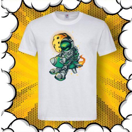 Мъжка тениска с принт Astronaut Rocket