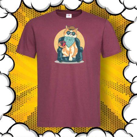 Мъжка тениска с котка Cat Chilling Out