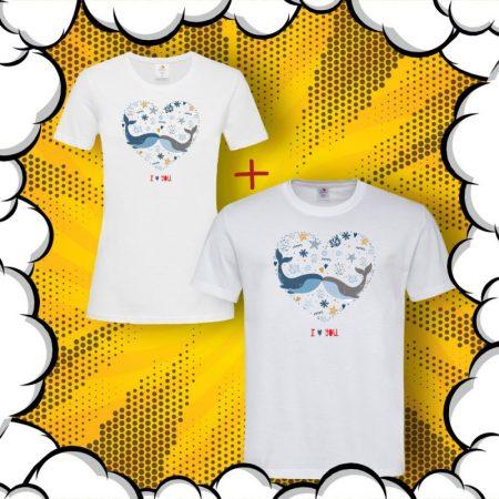 Комплект тениски за влюбени I Love You