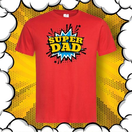 Тениска с надпис Super DAD
