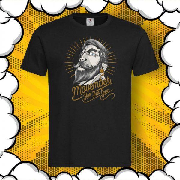 Movember Keep them Grow тениска с послание no shave november