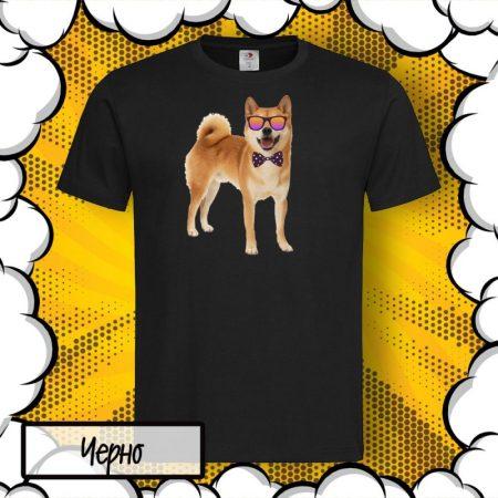 Мъжка тениска с принт Shiba Inu Шиба Ину