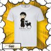 тениска с принт куче Шиба Ину